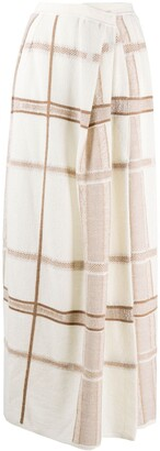 Gentry Portofino Intarsia-Knit Long Skirt