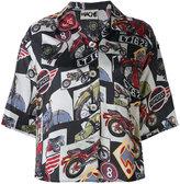 Hache bike print shirt - women - Viscose - 38