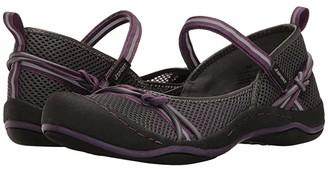 JBU Misty Encore (Charcoal/Plum Mesh/Webbing/Bungee) Women's Shoes