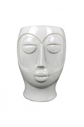 The Sue Parkinson Home Collection - Oval Mask Plant Pot - 18.5 x 16 x 22 2 cms