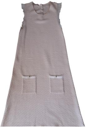 Stefanel Ecru Cotton - elasthane Dresses