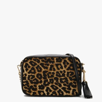 Michael Kors Butterscotch Leopard Calf Hair & Leather Camera Bag