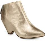 Elisanero Metallic Leather Ankle Boots