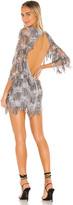 For Love & Lemons Etoile Sequin Fringe Dress