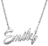 Zales Child's Script Name Necklace in Sterling Silver (8 Letters)