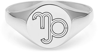 Myia Bonner Capricorn Signet Ring In Sterling Silver