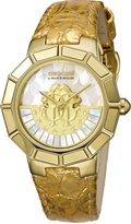 Roberto Cavalli Women's RV2L011L0031 ROTATING DIAL Diamond Gold IP Watch
