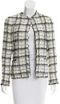 Chanel Lace-Trimmed Plaid Jacket