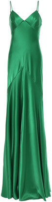 Amanda Wakeley Fluted Satin Gown