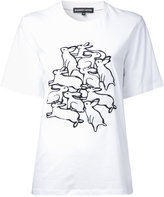 Markus Lupfer rabbits print T-shirt - women - Cotton - L