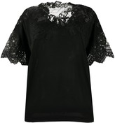 Ermanno Scervino lace panelled loose-fit blouse