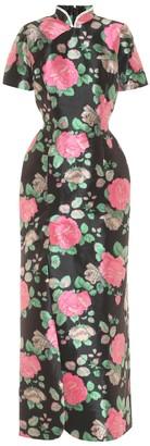 Richard Quinn Floral taffeta gown