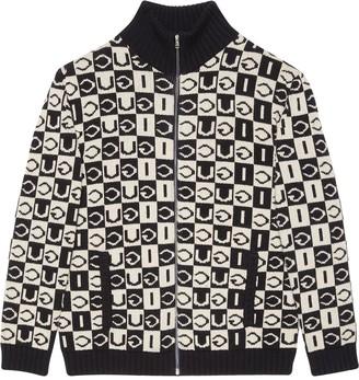 Gucci Checkerboard Motif Jacket