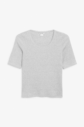 Monki Ribbed top