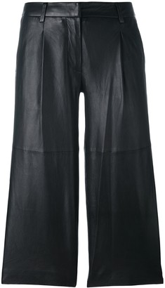 MICHAEL Michael Kors Leather Cropped Pants