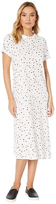 ban.do Midi Length Tee Dress (Party Dots) Women's Dress
