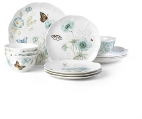 Lenox Butterfly Meadow Turquoise 12-pc Dinnerware Set, Service for 4