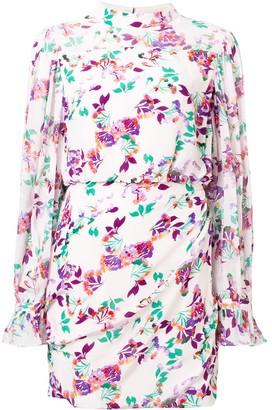 Saloni Floral Print Mini Dress