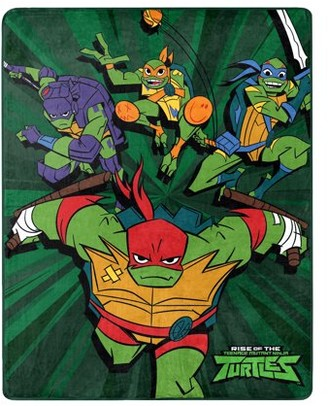 """The Northwest Company Teenage Mutant Ninja Turtles, """"Coming Out of the Shell"""" Silk Touch Throw Blanket, 40"""" x 50"""""""