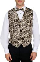 Buy Your Ties Men's Leopard Print Vest Bow Tie and Hanky Set