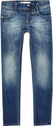 Levi's River Island Girls faded skinny jeans