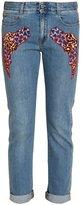 Stella McCartney Skinny Boyfriend Cloud Patch Jeans