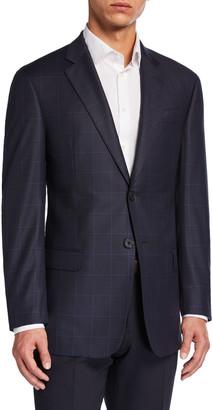 Emporio Armani Men's G-Line Virgin Wool Plaid Sport Jacket