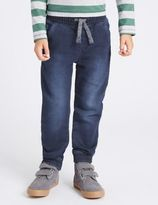 Marks and Spencer Cotton Rich Jogger Style Denim Jeans (1-7 Years)