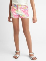 Gap Stretch tie-dye shorty shorts