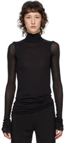 Rick Owens Lilies Black Heavy Jersey Long Sleeve T-Shirt