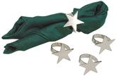 Sheridan Star Nickel-Plated Napkin Ring - Set of Four