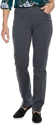Croft & Barrow Women's Effortless Stretch Straight-Leg Pants