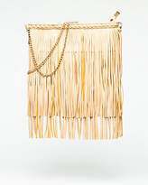 Le Château Leather-Like Fringe Crossbody Bag