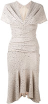 Talbot Runhof sparkly flutter dress