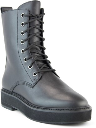 Eileen Fisher Nelly Leather Combat Boot
