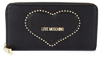 Love Moschino Heart Faux Leather Continental Wallet