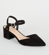 New Look Wide Fit Suedette Low Heel Courts