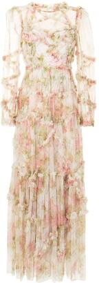 Needle & Thread Harlequin Rose ruffle gown