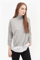 Fresh Jersey Shirt Detail Jumper