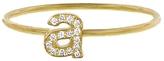 Jennifer Meyer Lowercase Diamond Initial Ring - Yellow Gold