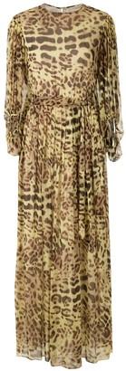 Adriana Degreas Leopard Print Silk Gown