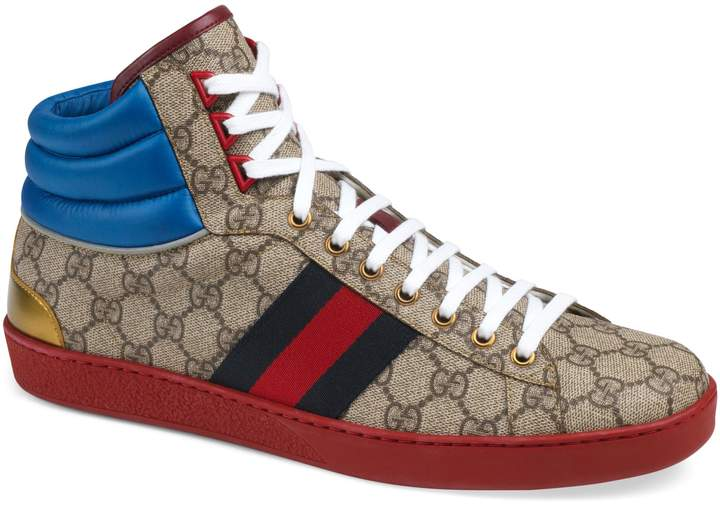 Gucci New Ace High GG Supreme Sneaker