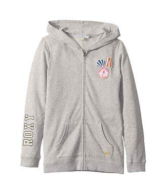 Roxy Kids The Little Mermaid Girls Plan Zip Hoodie (Big Kids)