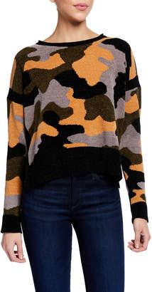 LISA TODD Fireside Camo Chenille Sweater w/ Side Slits