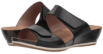 Dansko Vienna (Black Full Grain) Women's Sandals