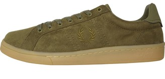 Fred Perry Mens B721 Microfibre Trainers Burnt Olive