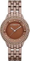 Liz Claiborne Ladies Brown Watch with Crystals