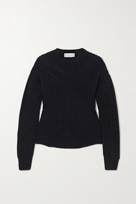 Officine Generale Anita Ribbed Wool Sweater - Navy