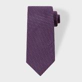 Paul Smith Men's Navy Micro-Floral Silk Tie