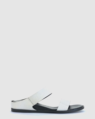 EOS Women's White Flat Sandals - Fae - Size One Size, 40 at The Iconic